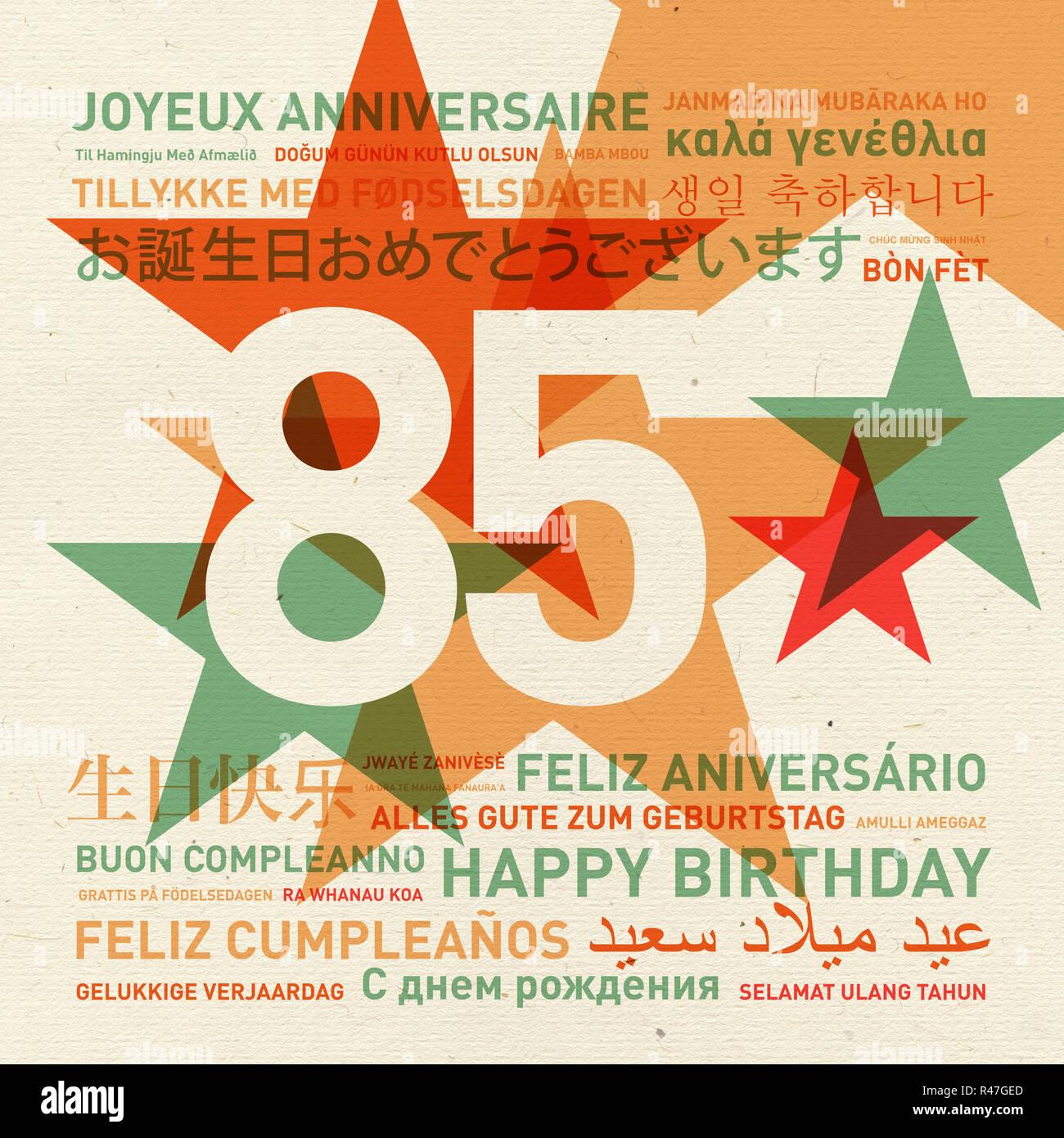 85 Jahrestag Happy Birthday Card Aus Der Welt