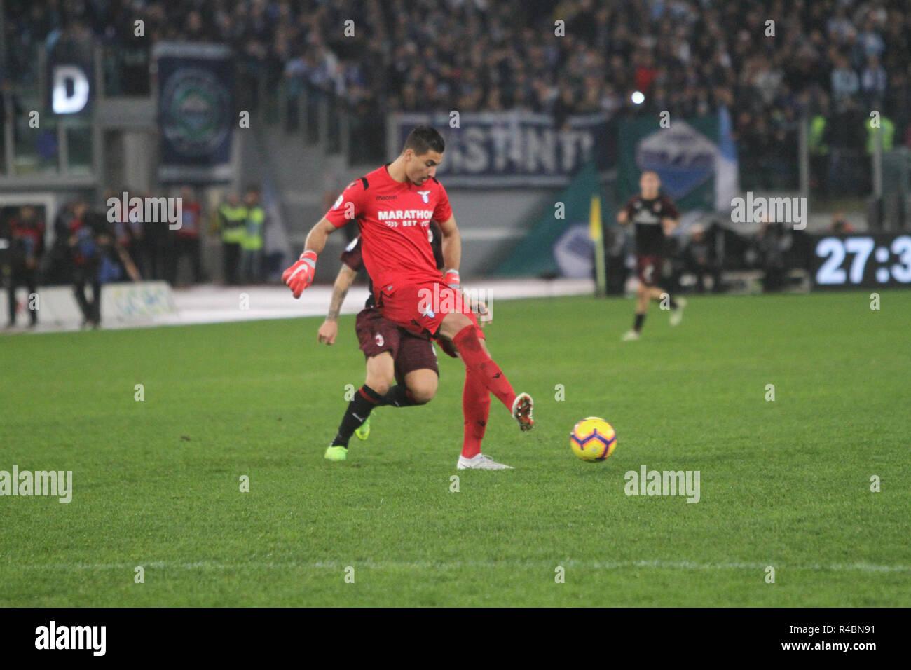 Während Des Spiels Zwischen Ss Lazio Rom Und Der Ac Mailand Gebunden
