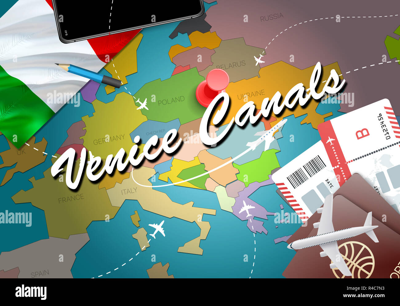 Venedig Kanale Stadt Reisen Und Tourismus Ziel Konzept Italien