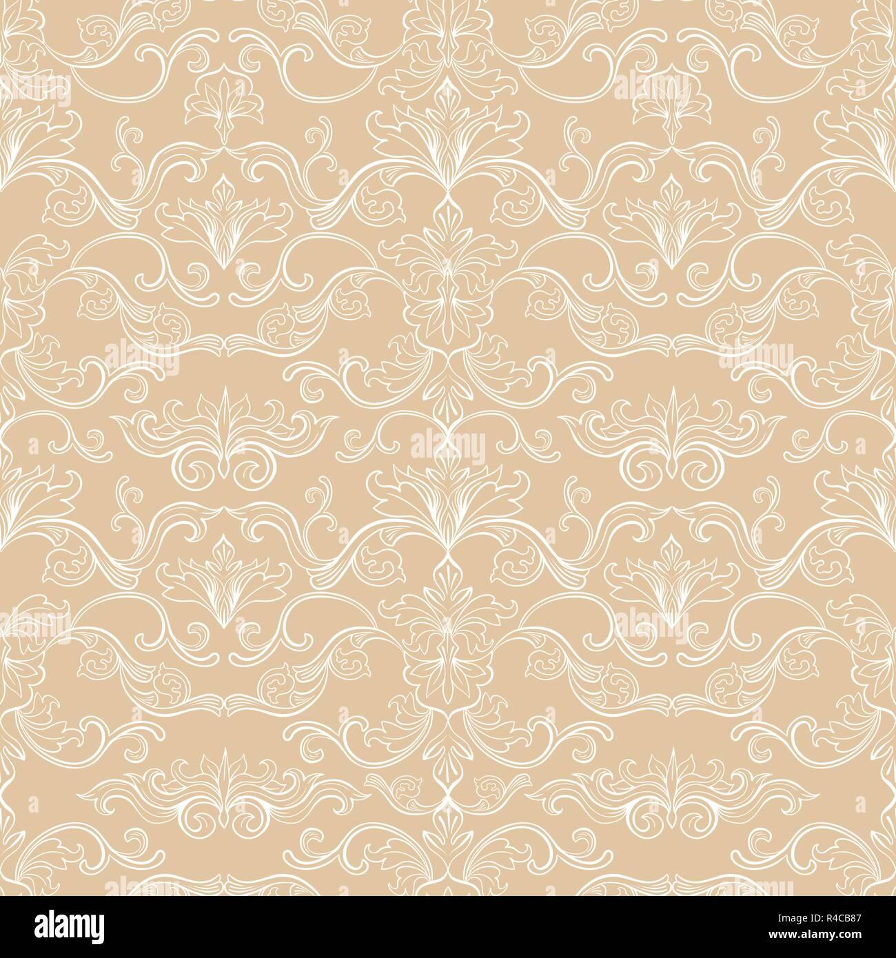 damast vektor nahtlose muster vintage style tapete teppich oder verpackung papier design gold. Black Bedroom Furniture Sets. Home Design Ideas