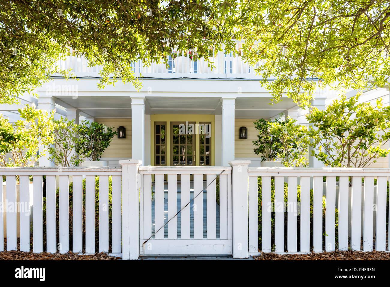 White Beach Holz Holz Architektur Von Haus Tur Tor Zu Veranda