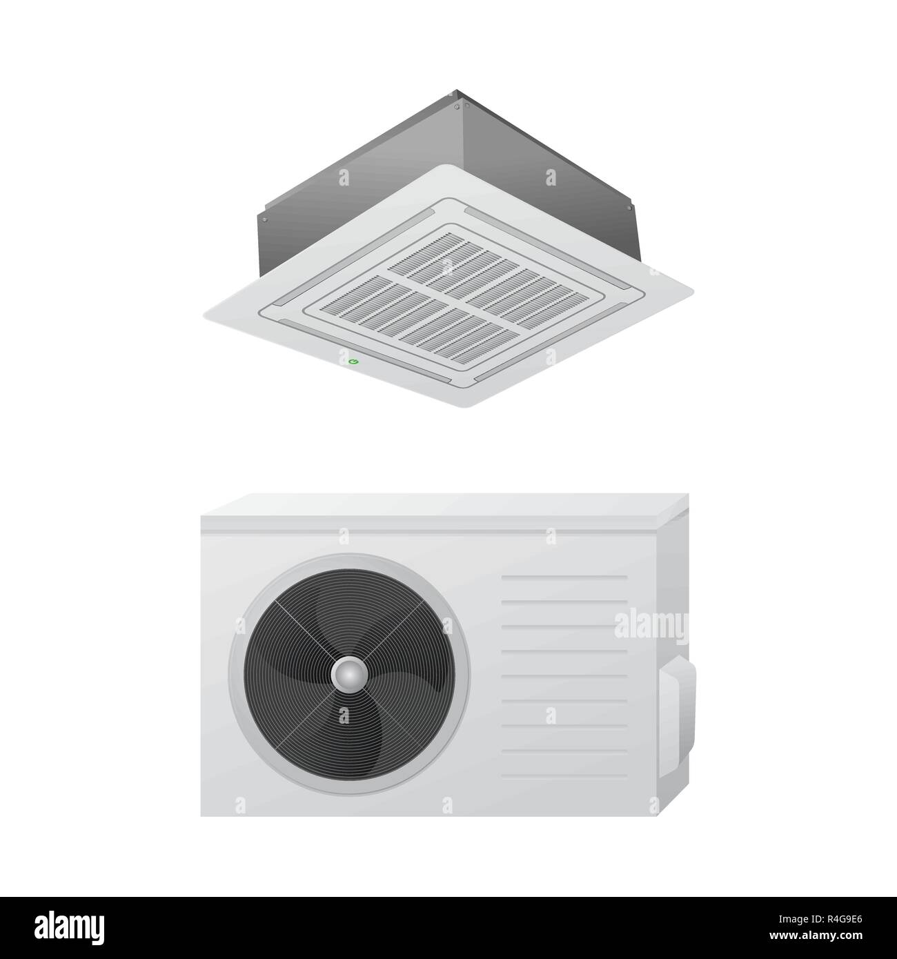 Die Klimaanlage Split System Vector Illustration Das Konzept Der
