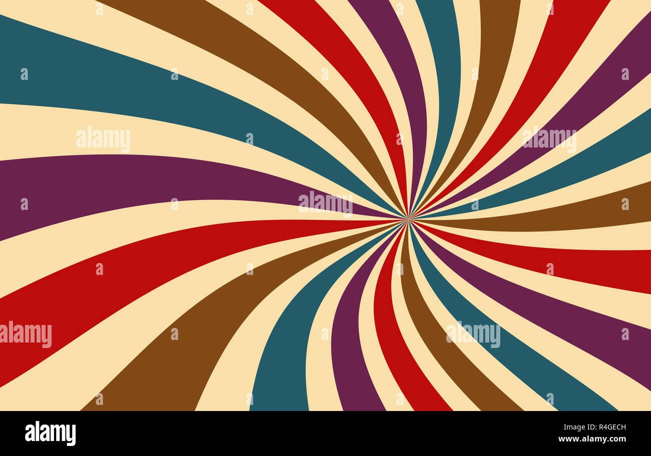 Retro Starburst Oder Sunburst Hintergrund Muster Mit Einem Dunklen