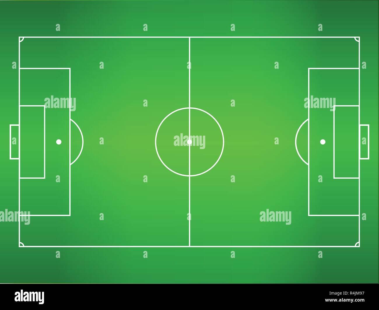 Grunes Gras Fussball Fussball Feld Vektor Abbildung Bild