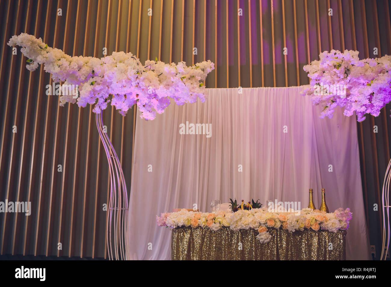 Details Der Dekoration Der Brautigam Und Die Braut Hochzeit In Der