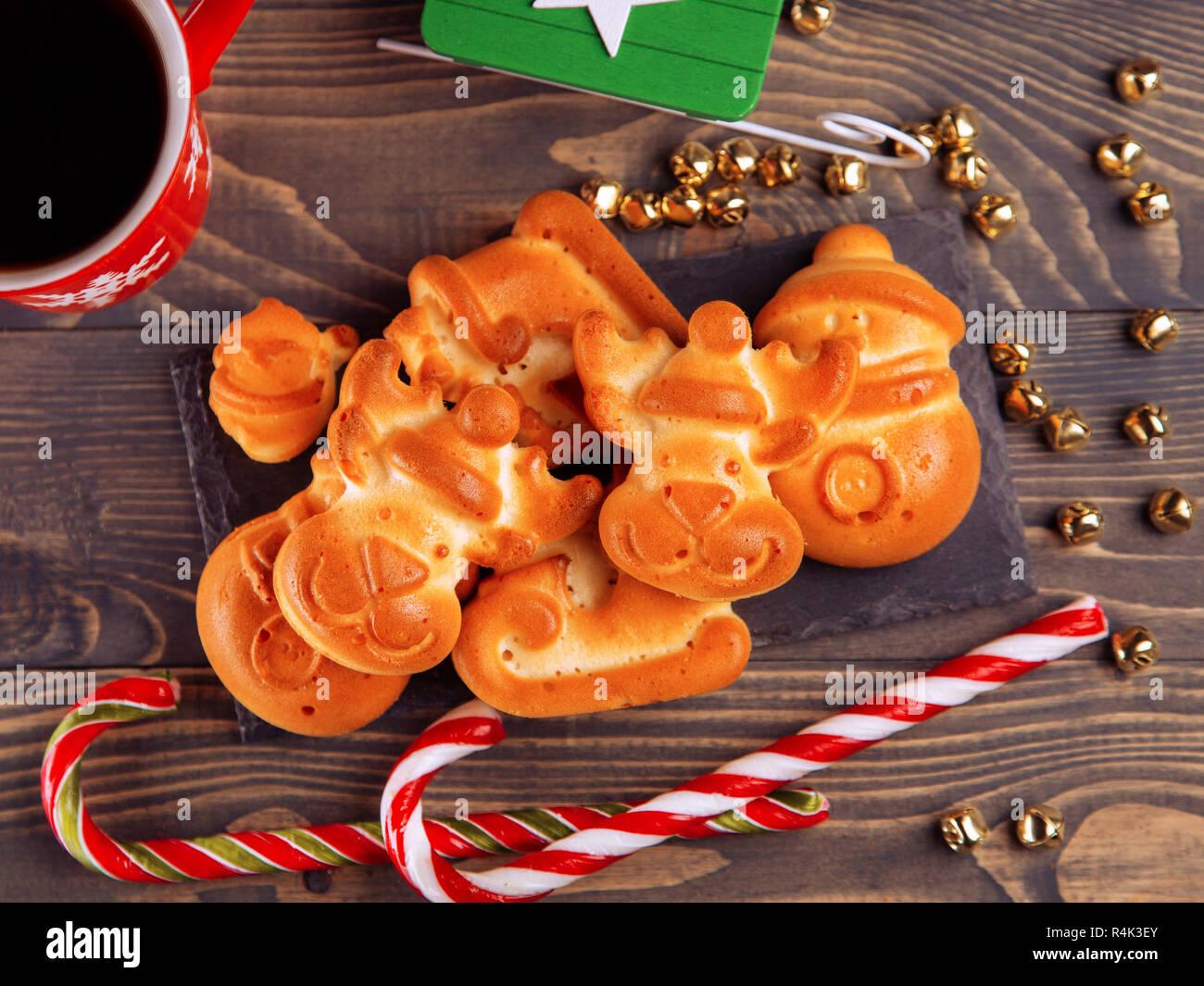 Weihnachten Zusammensetzung Mit Lebkuchen Sussigkeiten Und Dekor