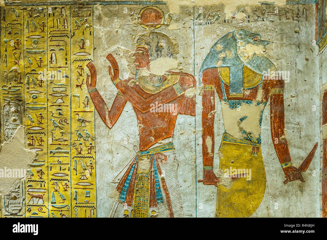 Alte Ägyptische Malerei Stockfotos und -bilder Kaufen - Alamy