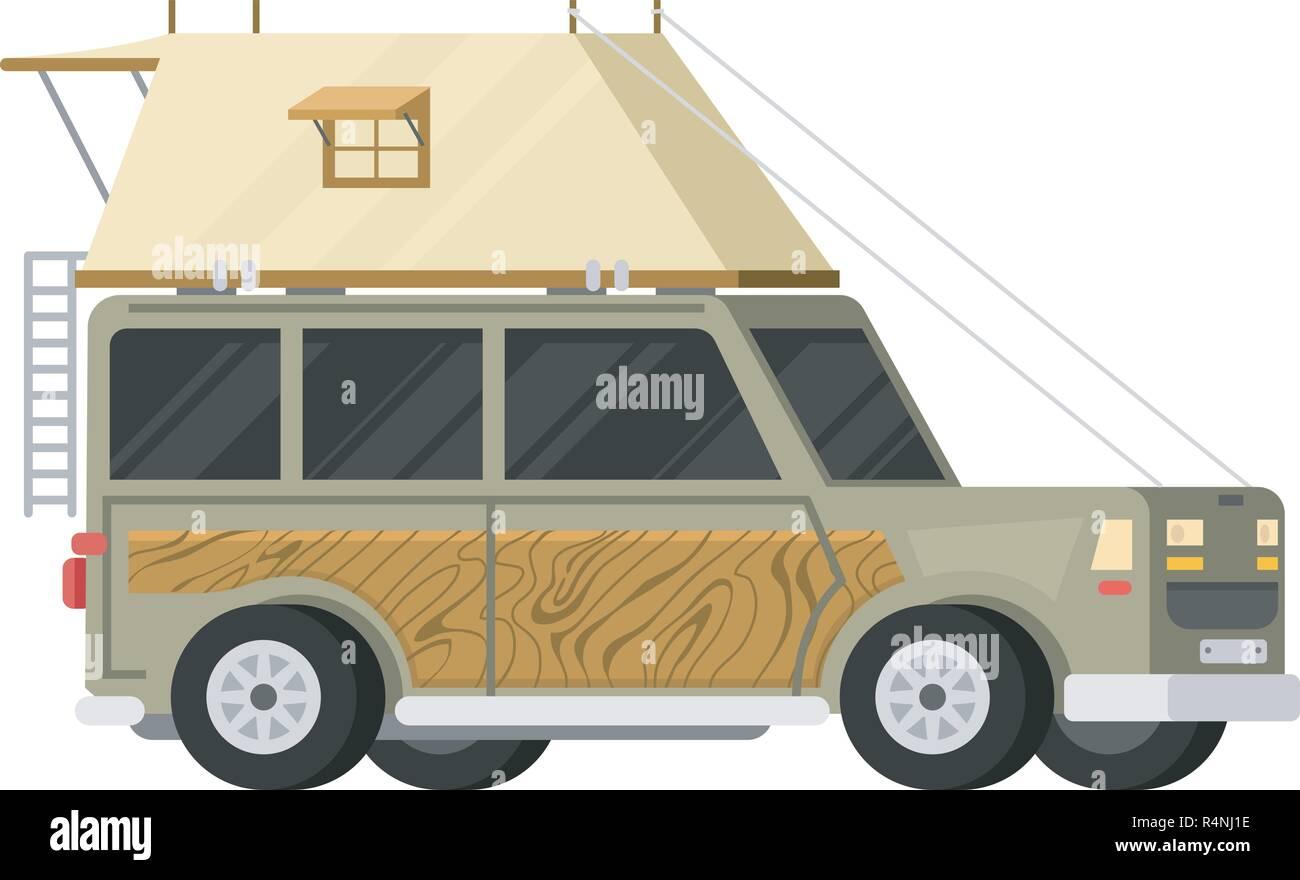 Anhanger Oder Familie Rv Camping Caravan Touristische Bus Und Zelt