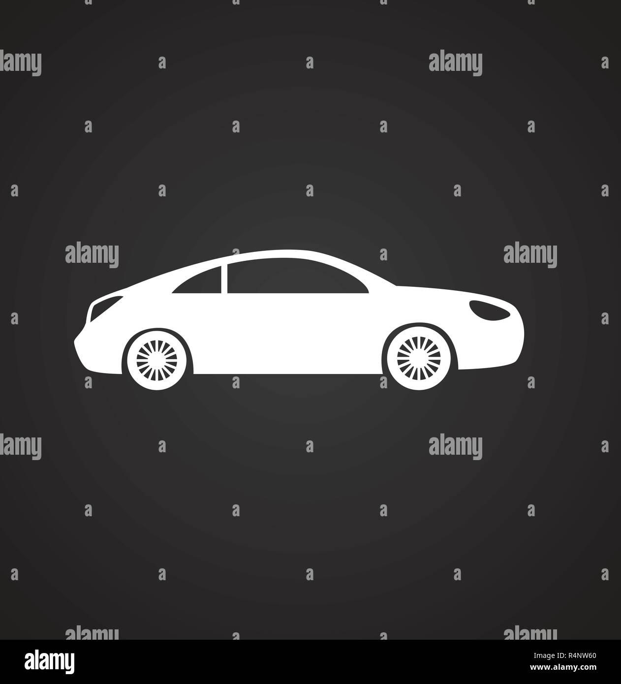 Onwijs Auto-Symbol auf schwarzem Hintergrund für Grafik- und Webdesign AQ-06