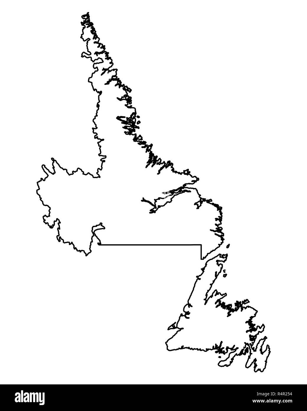 neufundland karte