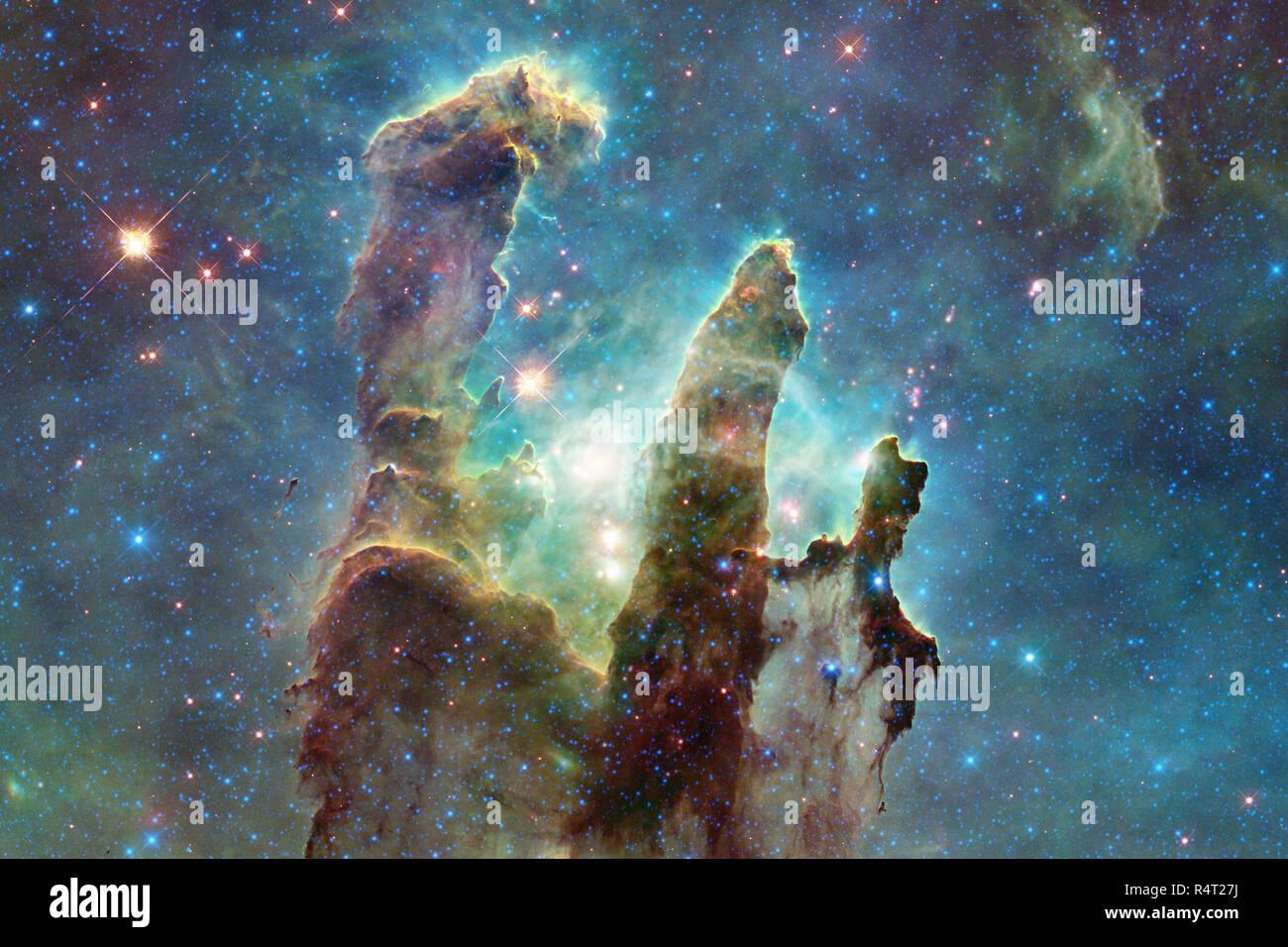 Universum gefüllt Sterne, Nebel und Galaxien. Die ...