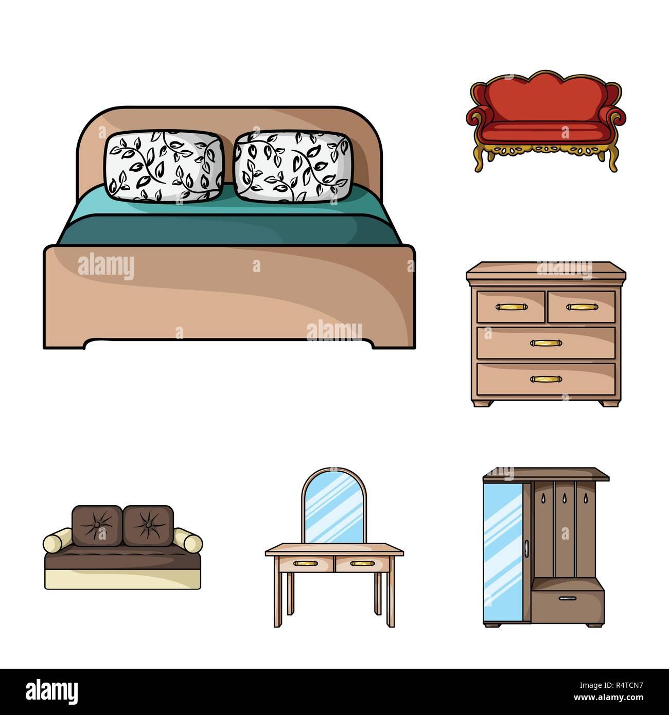 Möbel Und Innenausbau Cartoon Symbole Im Set Sammlung Für Design