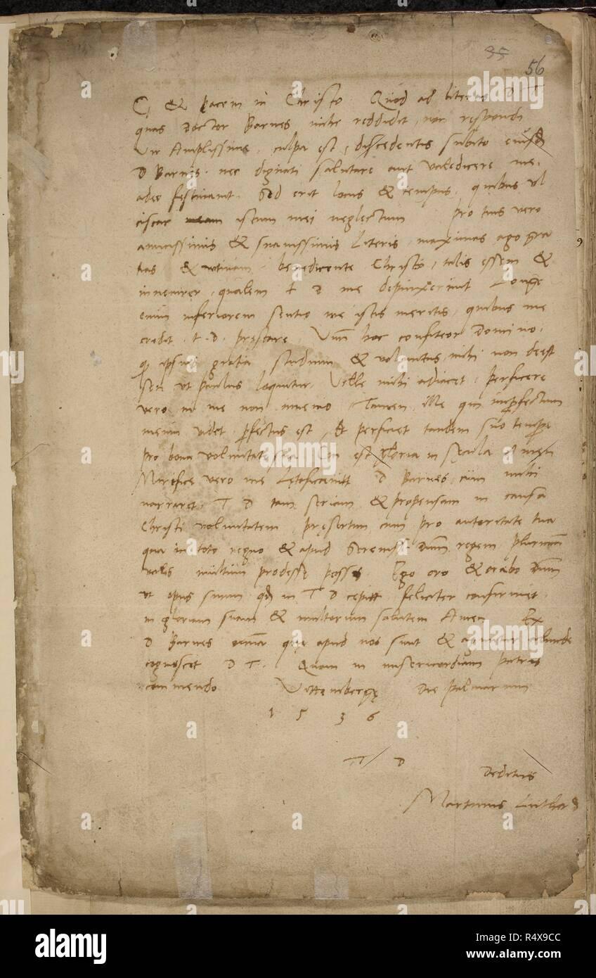 Brief Von Martin Luther Thomas Cromwell Original Briefe Von Staat