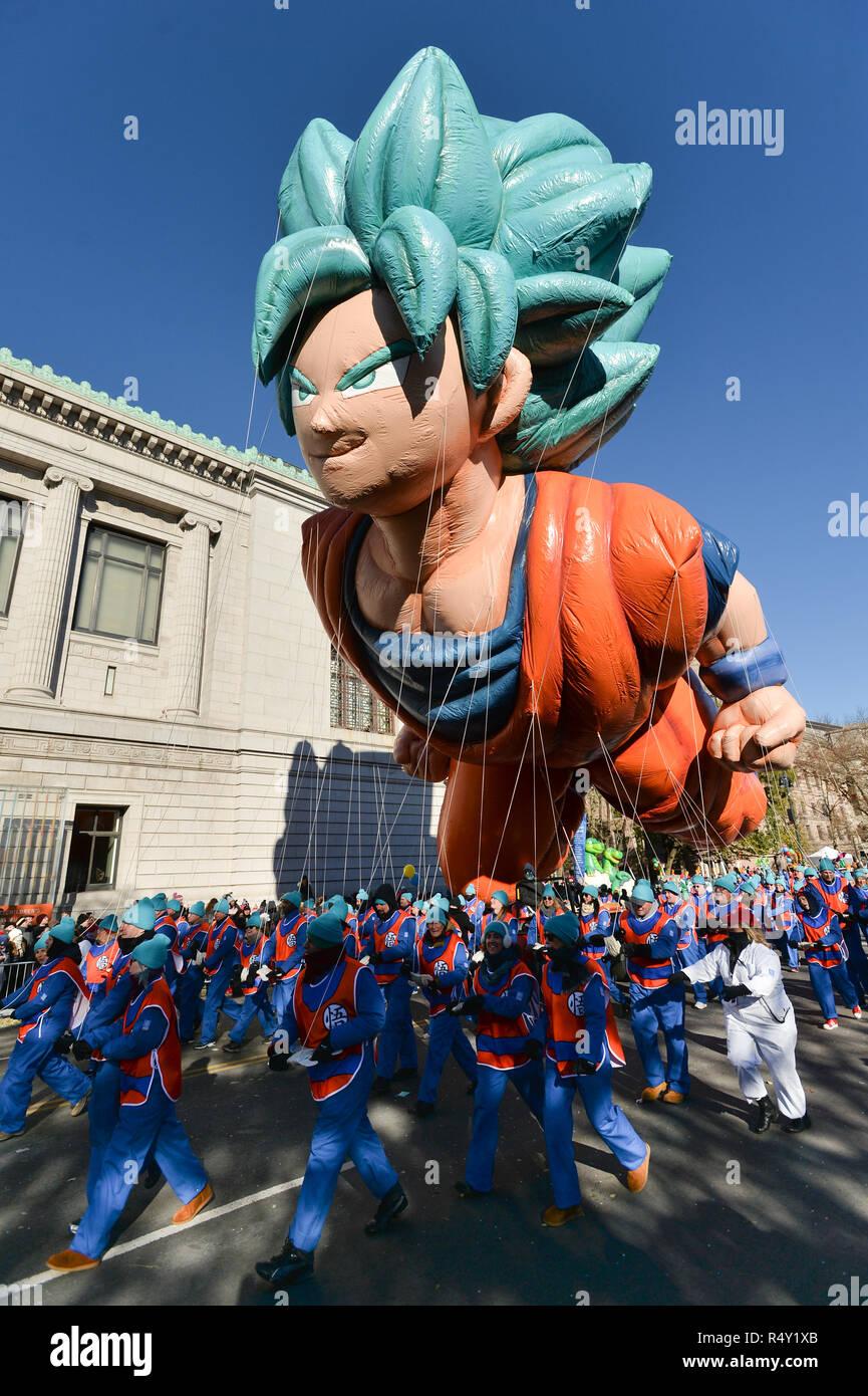 Der Ballon Von Son Goku Ist Wahrend Der 2018 Macy S Thanksgiving Day Parade In New York Usa An November 22 2018 Gesehen Stockfotografie Alamy