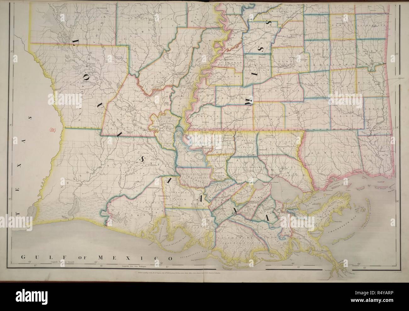 Louisiana und Mississippi. amerikanische Atlas; Post, S ... on