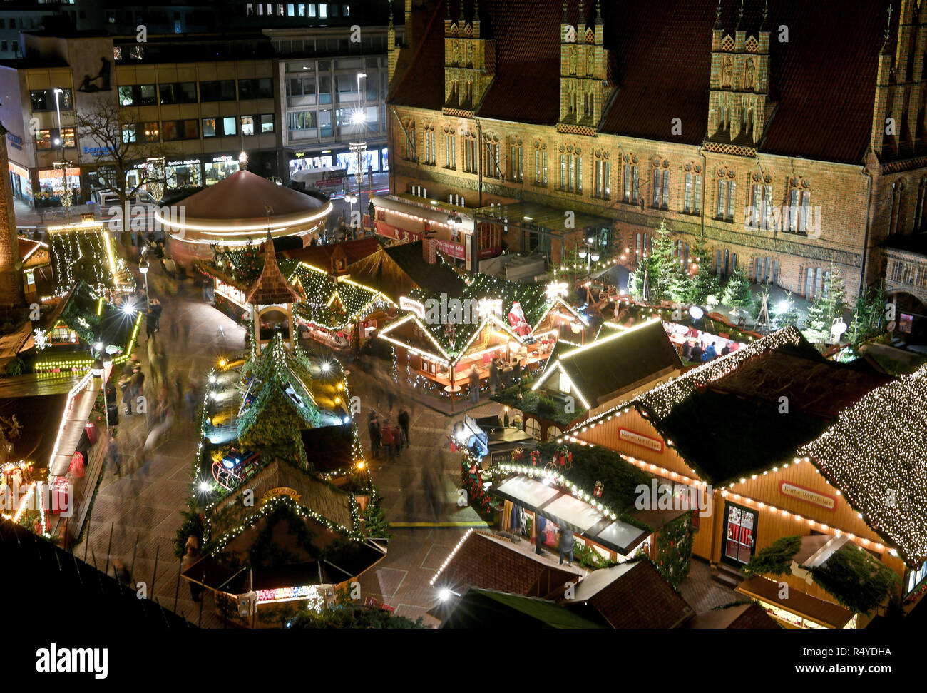 Hannover Deutschland 28 Nov 2018 Der Weihnachtsmarkt Ist Hell