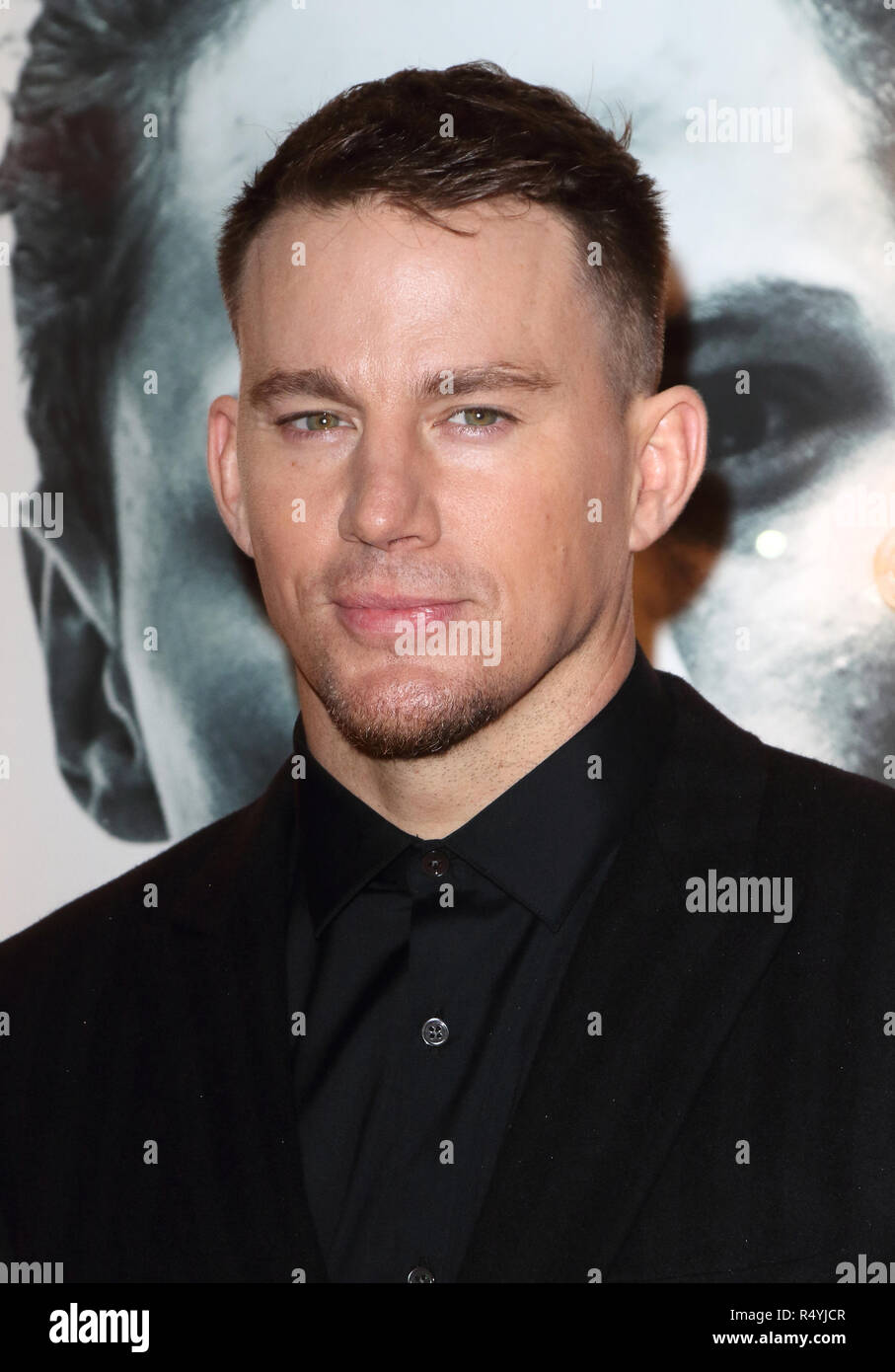 Hollywood Star Channing Tatum im Magic Mike Live drücken Sie die Nacht im Hippodrom Casino. Stockbild