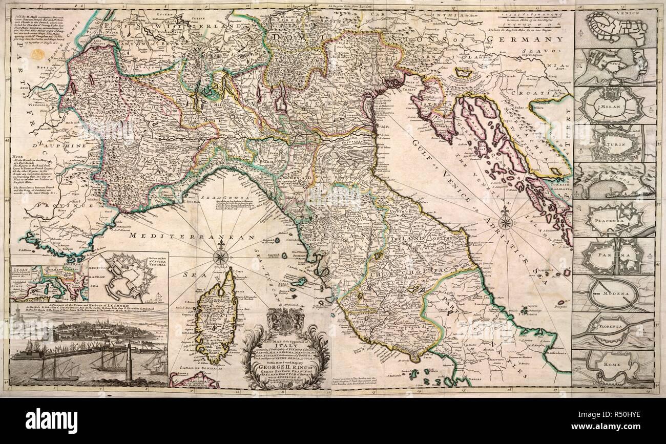 Norditalien Karte.Eine Straßenkarte Von Norditalien Eine Neue Karte Der Obere Teil