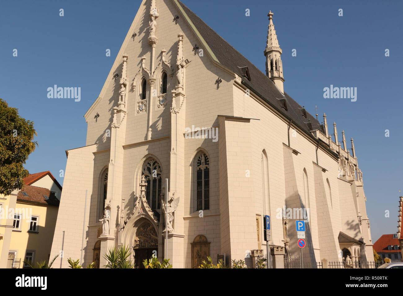 Blick in die ritterkapelle in Haßfurt in Bayern Stockbild