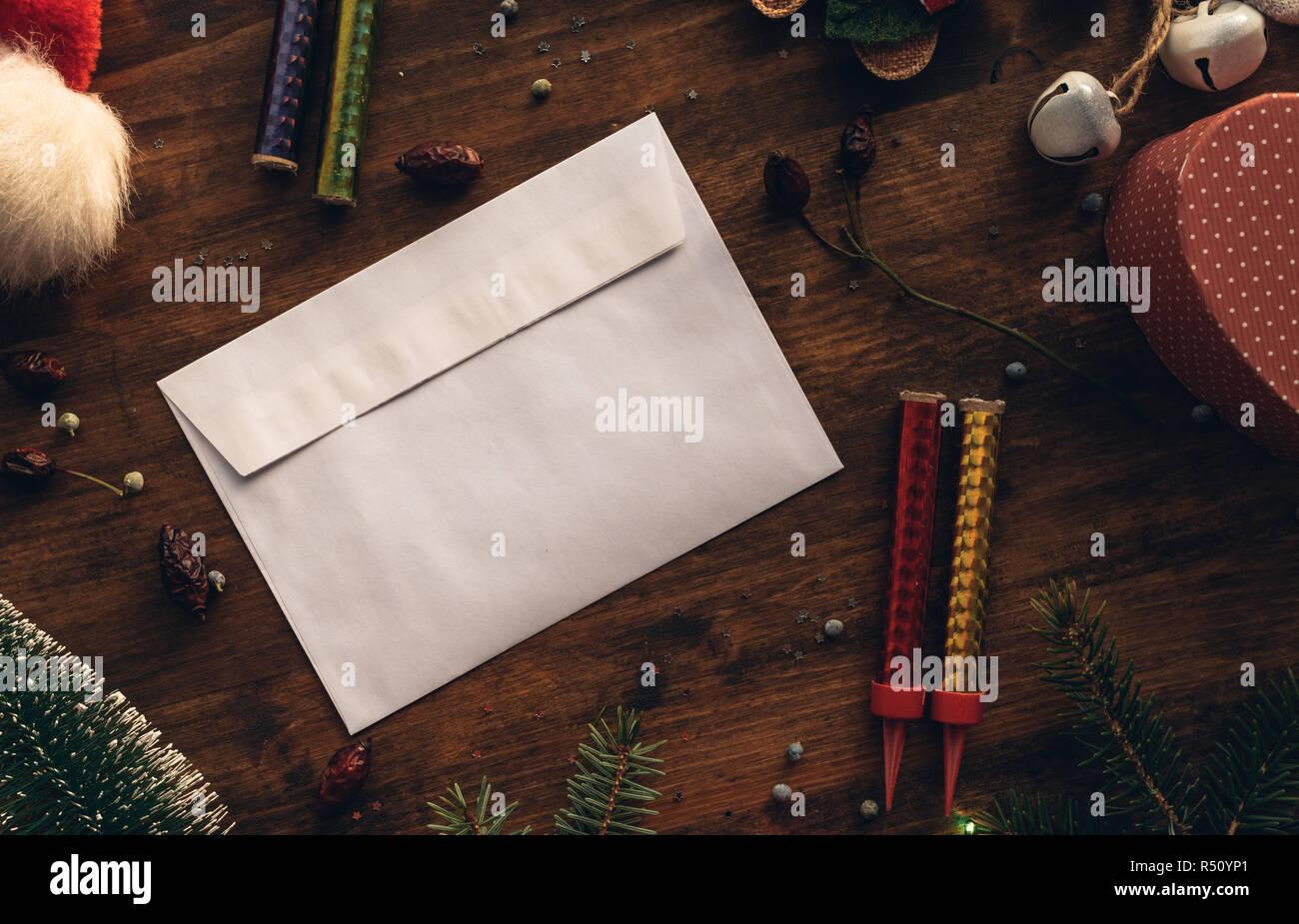 Schreiben Einen Brief An Den Weihnachtsmann Für Weihnachten Leeren
