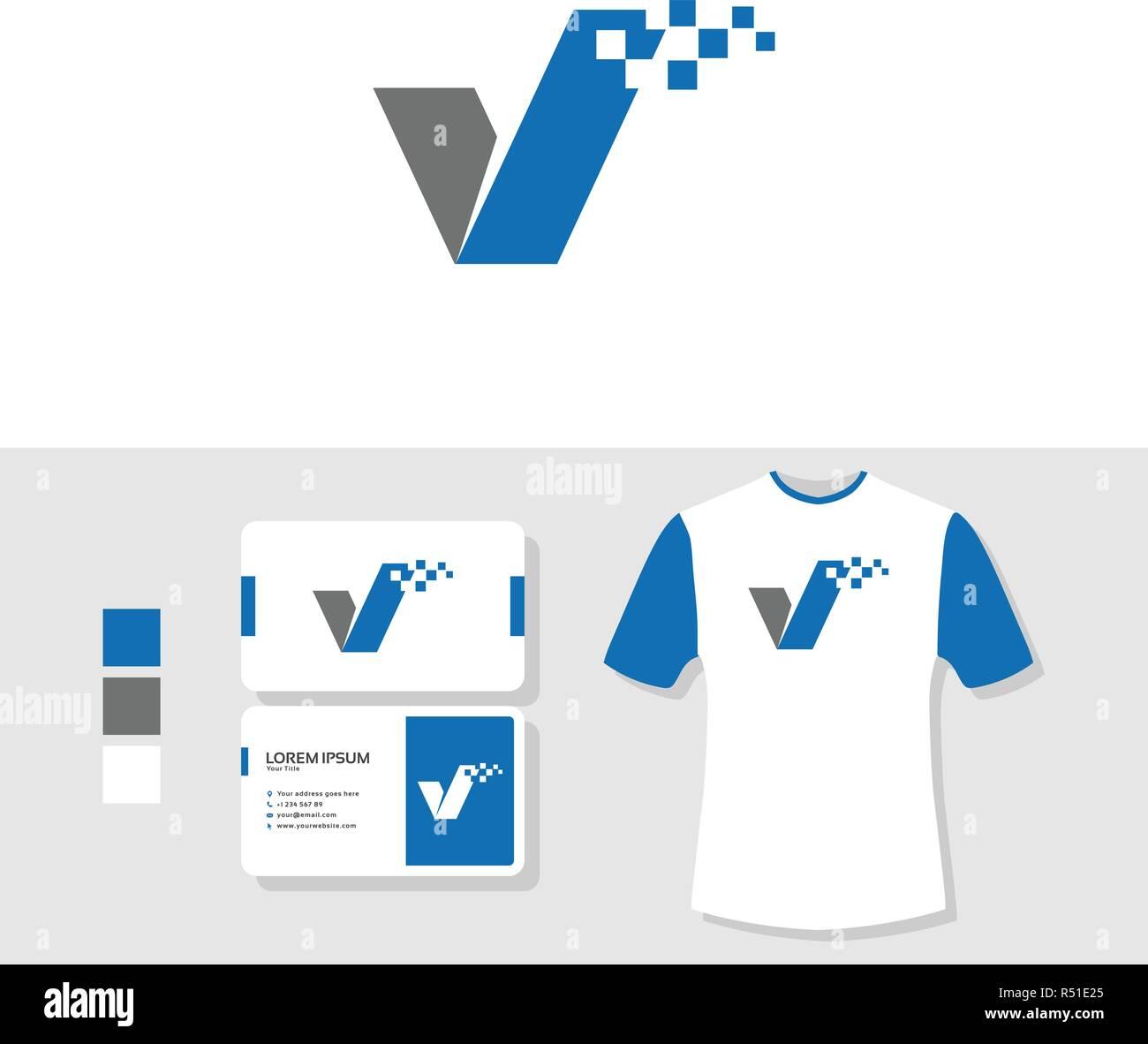 Logo Mit Business Card Und T Shirt Mockup Prufen Vektor Abbildung