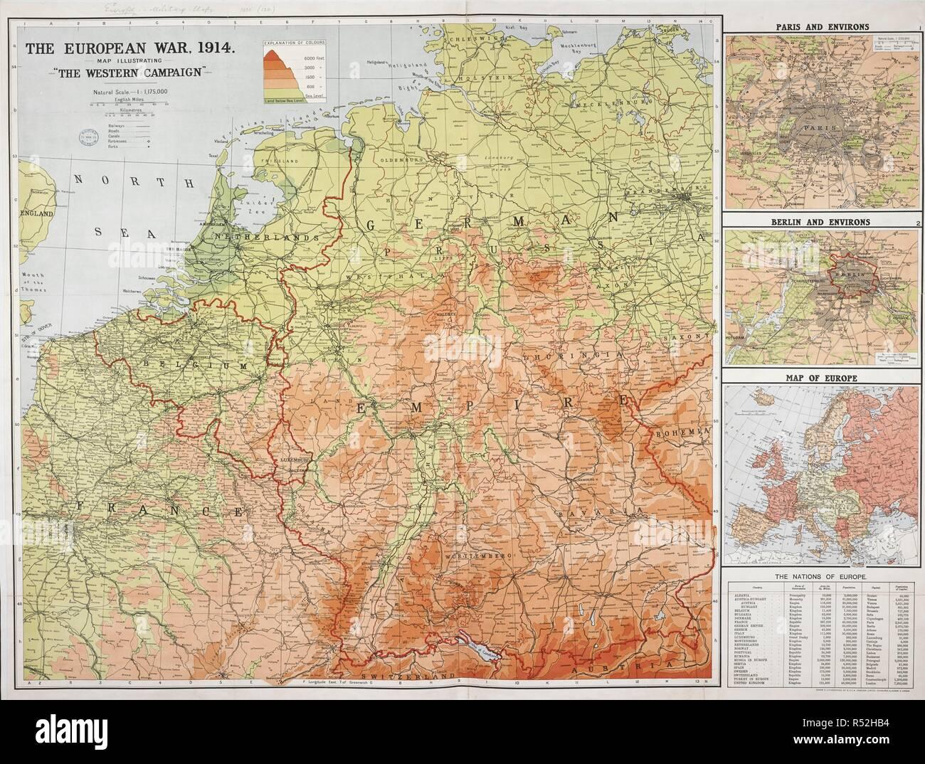 Karte Von Europa 1914.Eine Karte Von Europa Im Jahr 1914 Dem Ersten Jahr Des