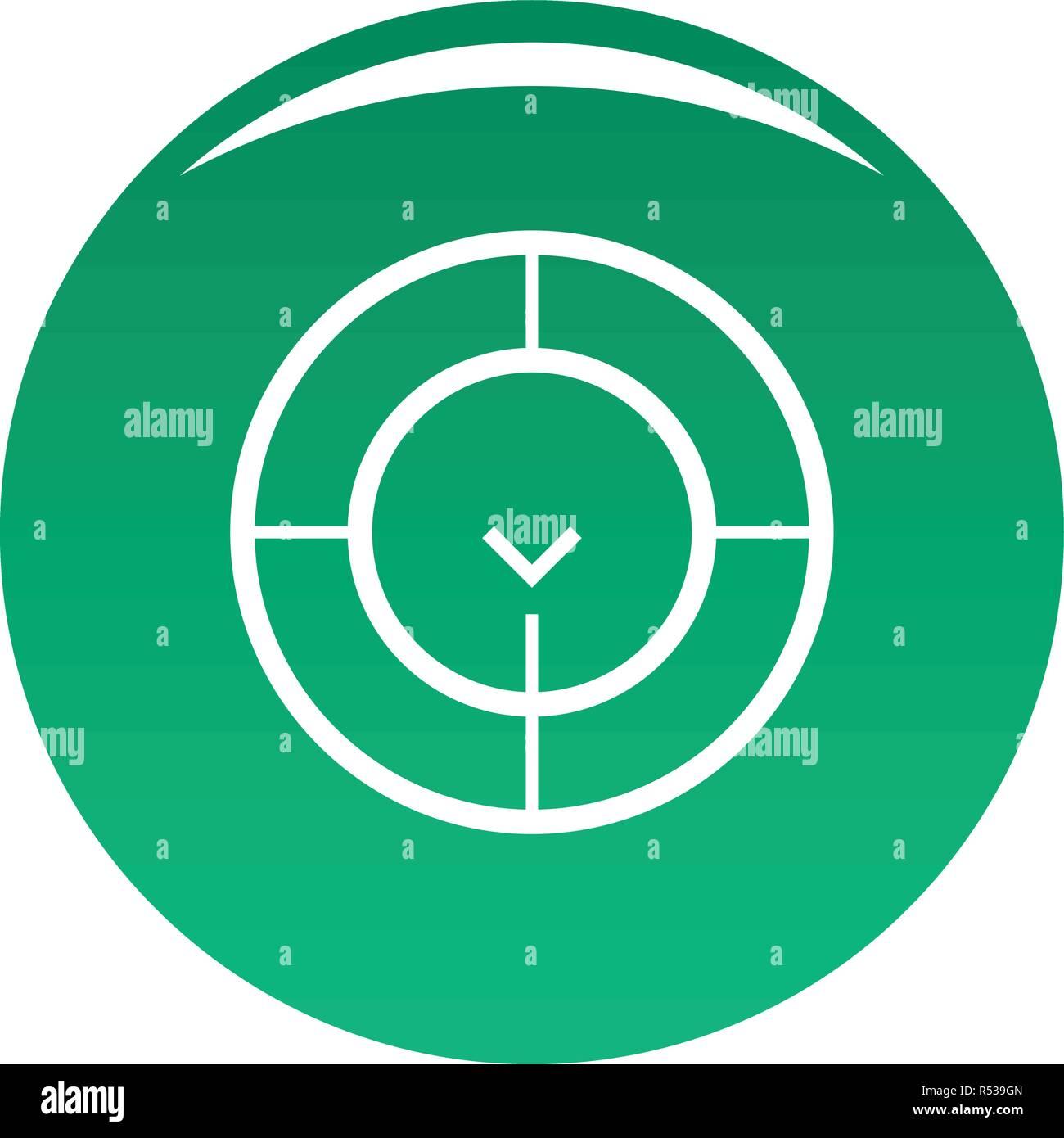 Prüfen Der Radar Symbol Einfache Abbildung Prüfen Von Radar Vektor