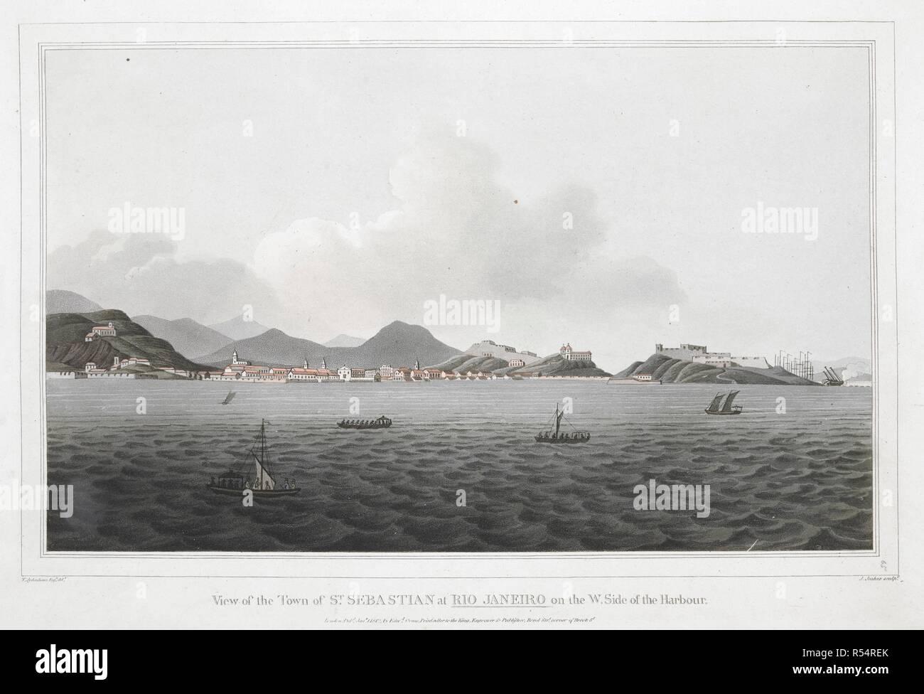 Antiquitäten & Kunst Frank Brasilien**rio De Janeiro**general View**1890 Elegant Im Geruch Ansichten & Landkarten
