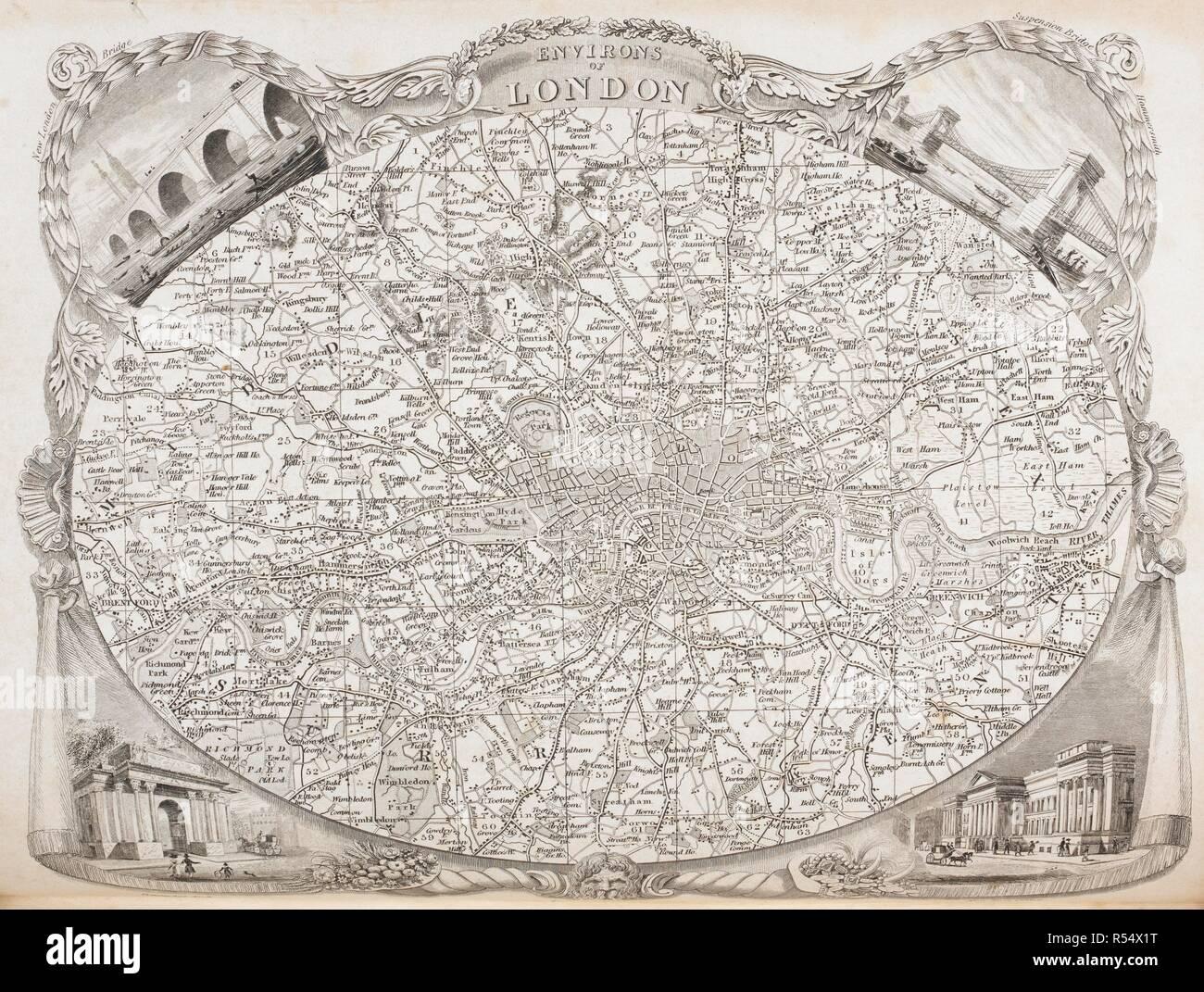 Trier Karte Umgebung.Eine Karte Der Umgebung Von London Die Englischen Grafschaften