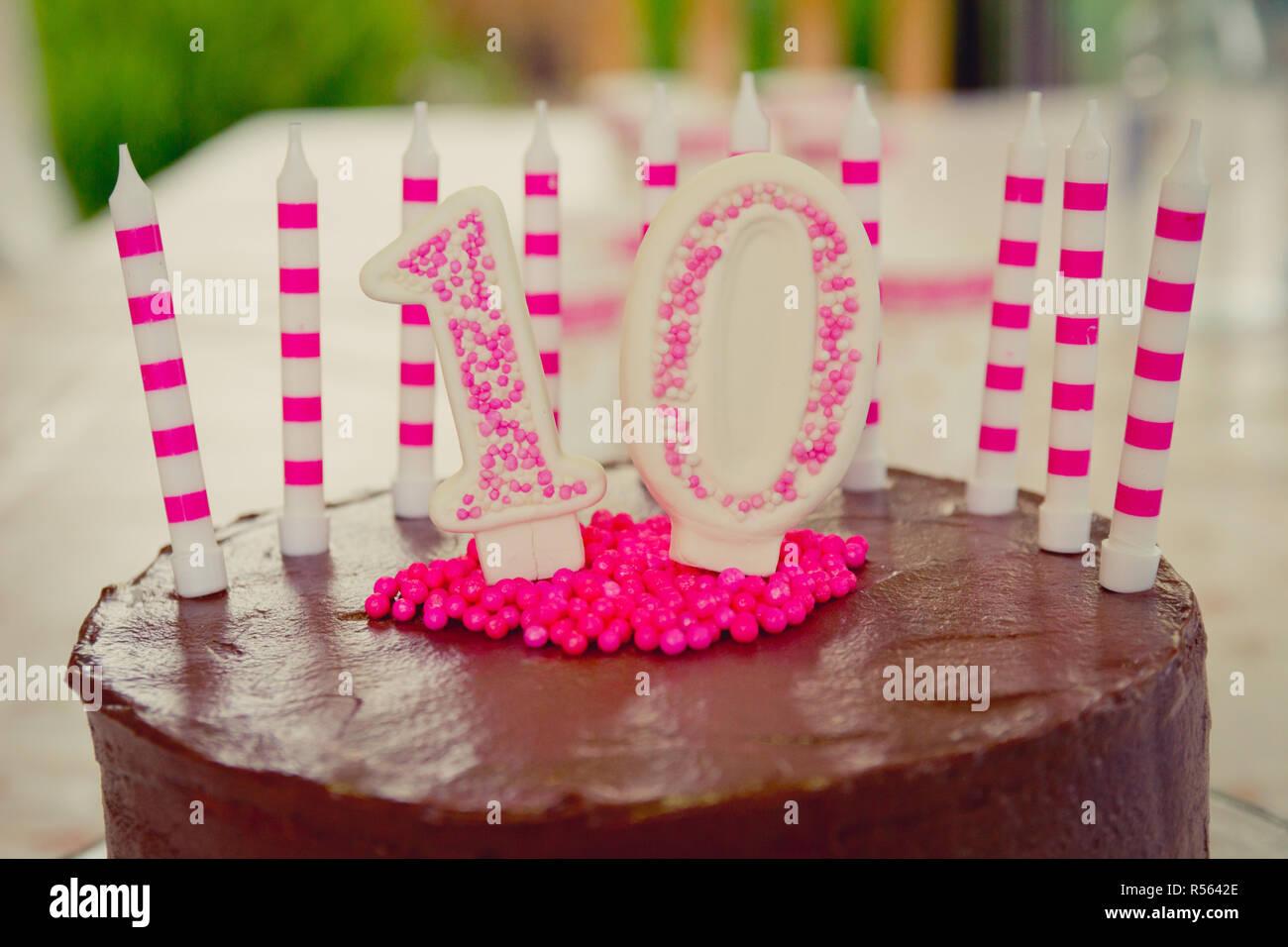 10 Geburtstag Kuchen Dekoration Stockfoto Bild 226942982 Alamy