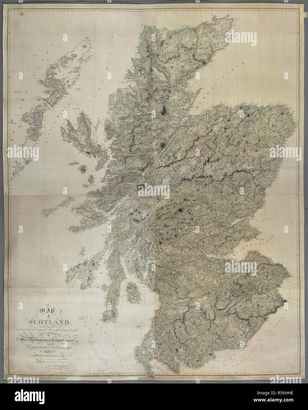 Schottland Karte Highlands.Eine Karte Von Schottland Karte Von Schottland Gebaut Aus Alten