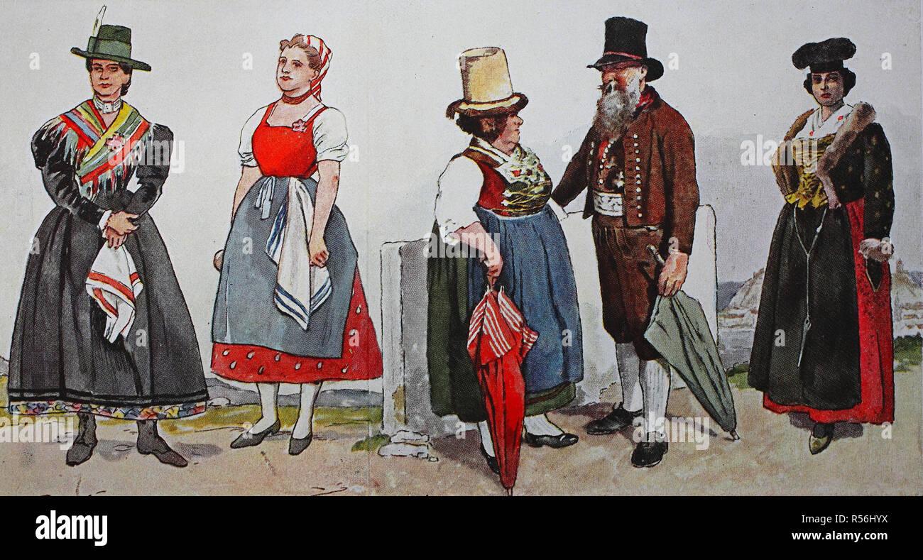 menschen in traditionellen kostümen, mode, kostüme, kleider
