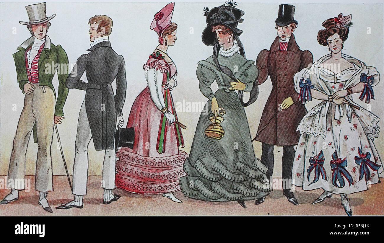 newest collection 2ab14 b1bb6 Mode, Kleidung, das Biedermeier Mode in Deutschland, 1819 ...