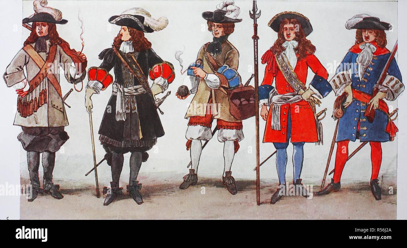 buy online 41819 fc054 Mode, Kleidung, deutsche Uniformen von 1680, 1690 ...
