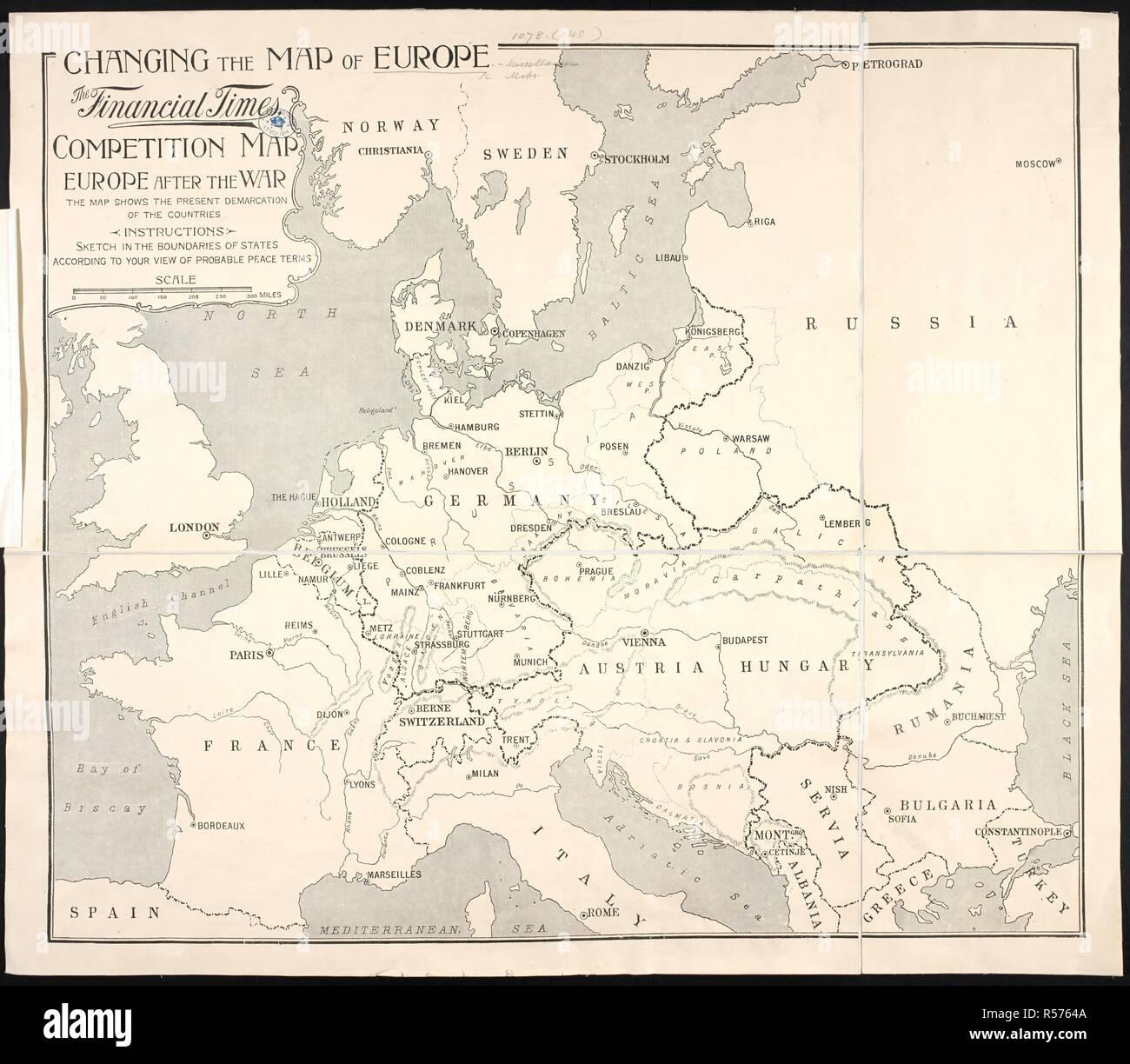 Karte Von Europa 1914.Map Europe 1914 Stockfotos Map Europe 1914 Bilder Alamy