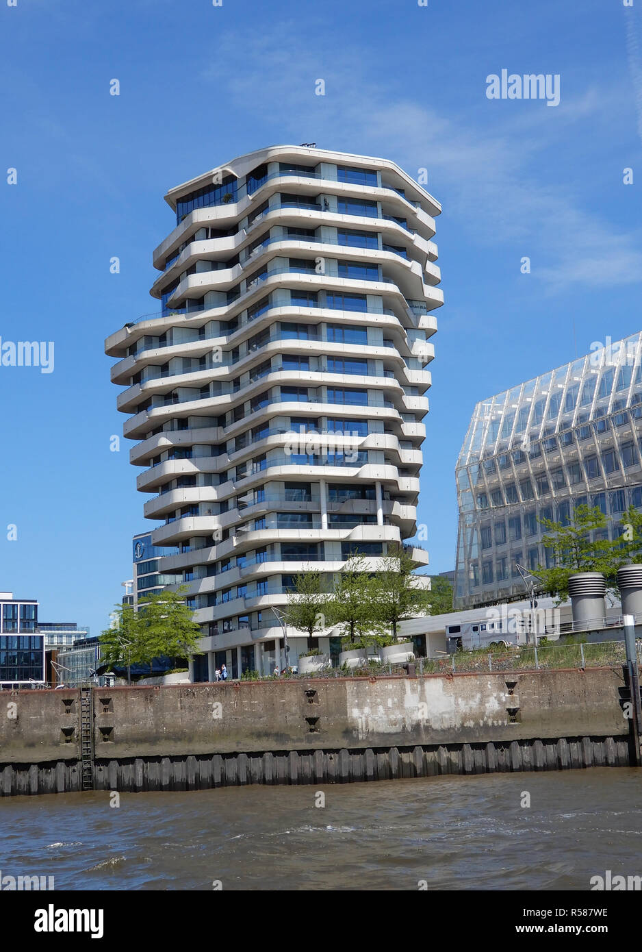 Marco Polo Tower Hafencity Hamburg Stockfoto, Bild: 226989882 - Alamy