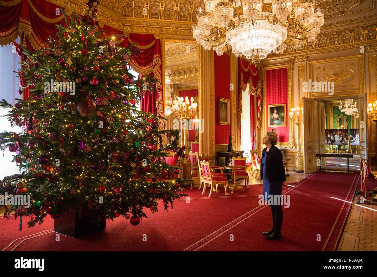 Weihnachtsbäume Dekorationen Kugeln Stockfotos & Weihnachtsbäume ...