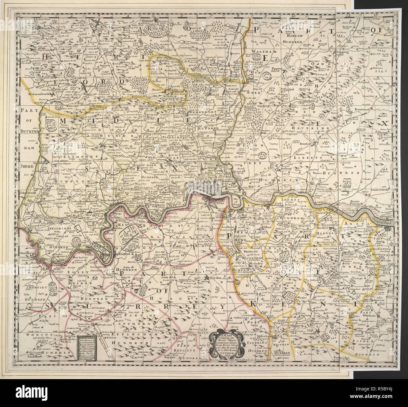 Eine Karte Die Eine 20 Km Radius Um London Ein Mapp Mit Den
