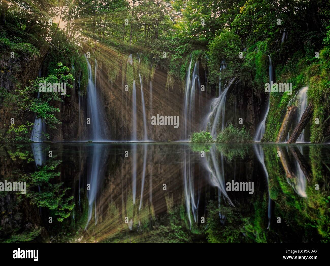 Plitvicer Seen Wasserfälle Stockbild