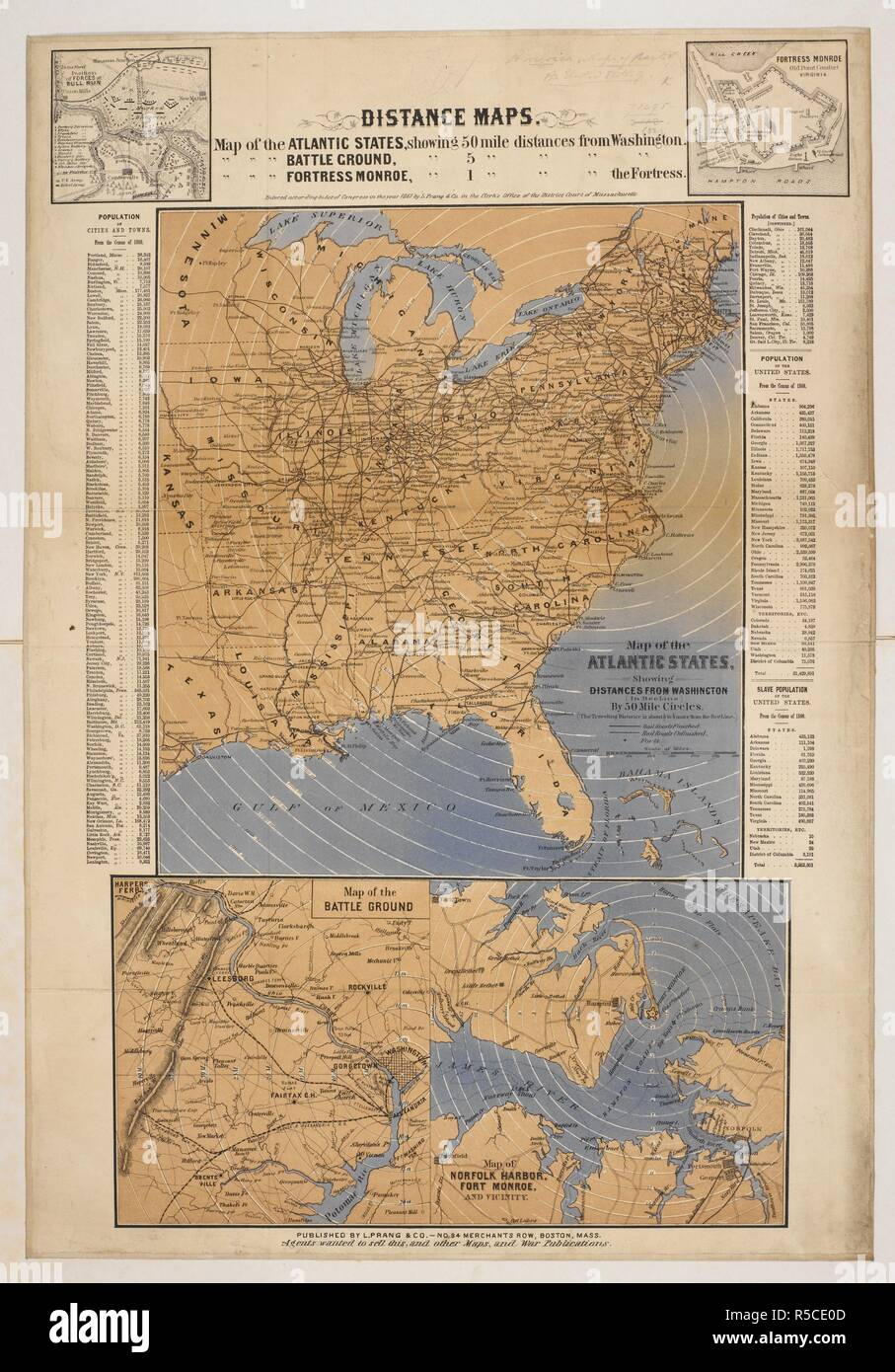 Eine Karte Der Atlantischen Staaten Von Nordamerika Karte Der Atlantischen Staaten 50 Km Entfernungen Von Washington