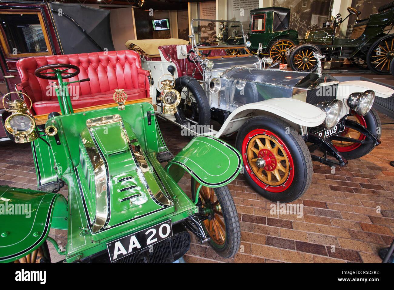 England, Hampshire, New Forest, Beaulieu, das National Motor Museum Stockbild