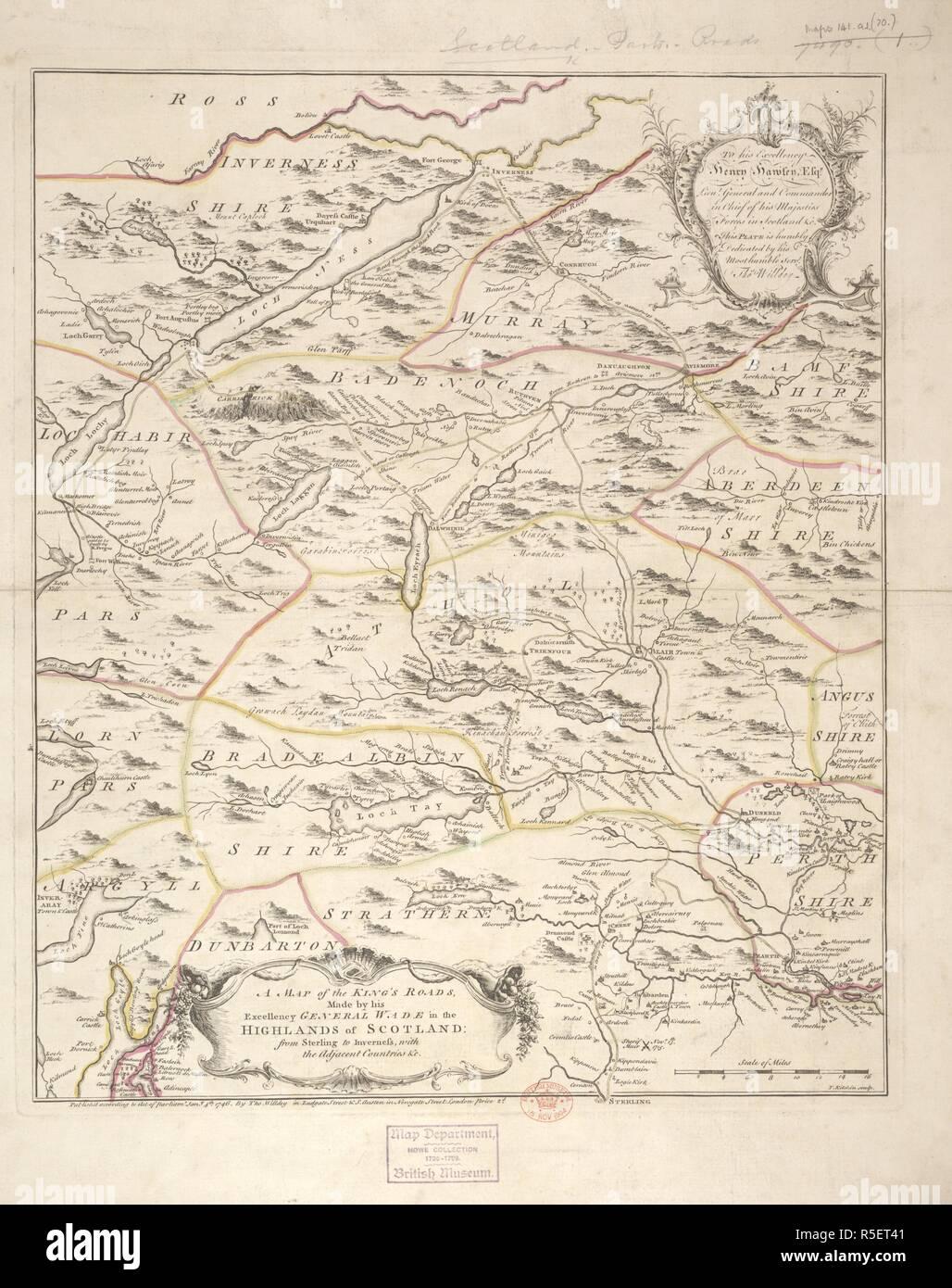 Schottland Karte Highlands.Eine Karte Von Des Königs Straßen In Den Highlands Von Schottland