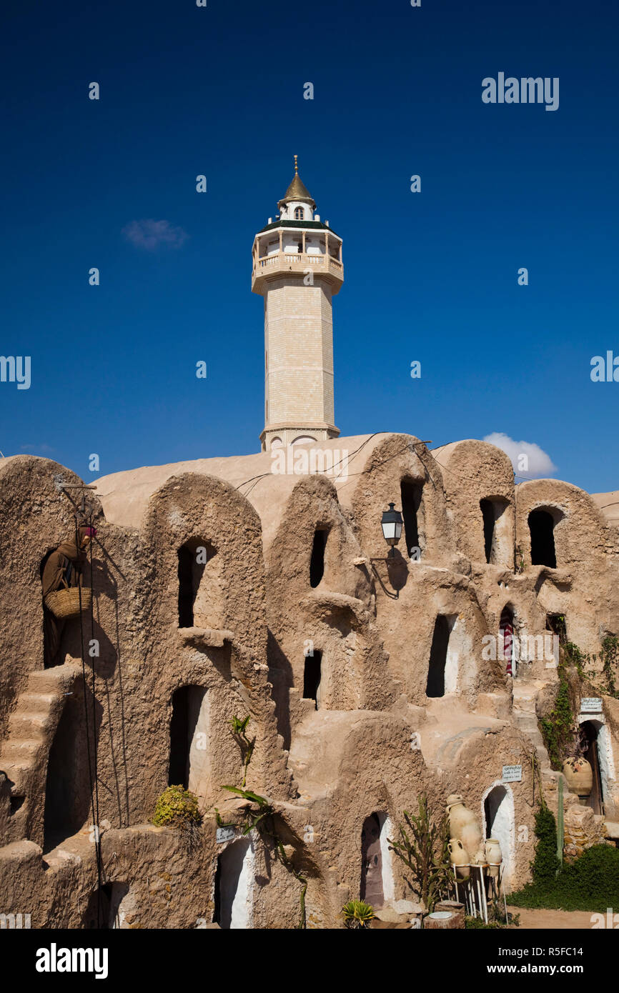 Tunesien, Ksour Bereich, Medenine, Ksar Medenine, alte befestigte Ksar Gebäude Stockbild