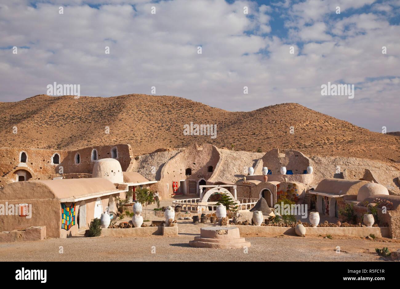 Tunesien, Ksour Bereich, Matmata, Diaramor Museum, Landschaft Stockbild