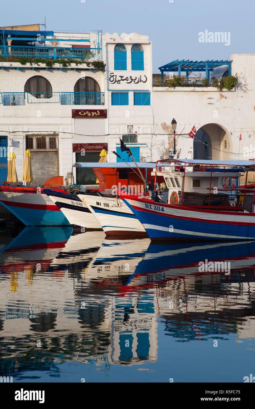 Tunesien, Nord Tunesien, Bizerte, Alter Hafen Stockbild