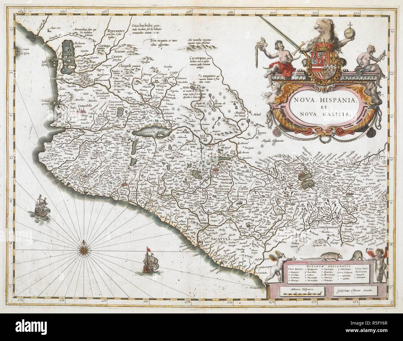 Galizien Karte.Eine Karte Der Neuen Spanien Und Galizien Nova Hispania Et Nova