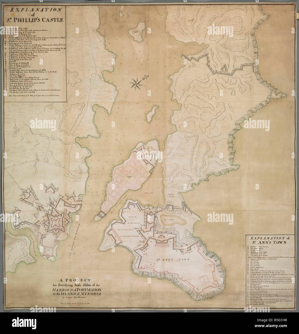 Insel Menorca Karte.Eine Karte Der Hafen Von Mahon Die Wahrend Der Zeit Oberst