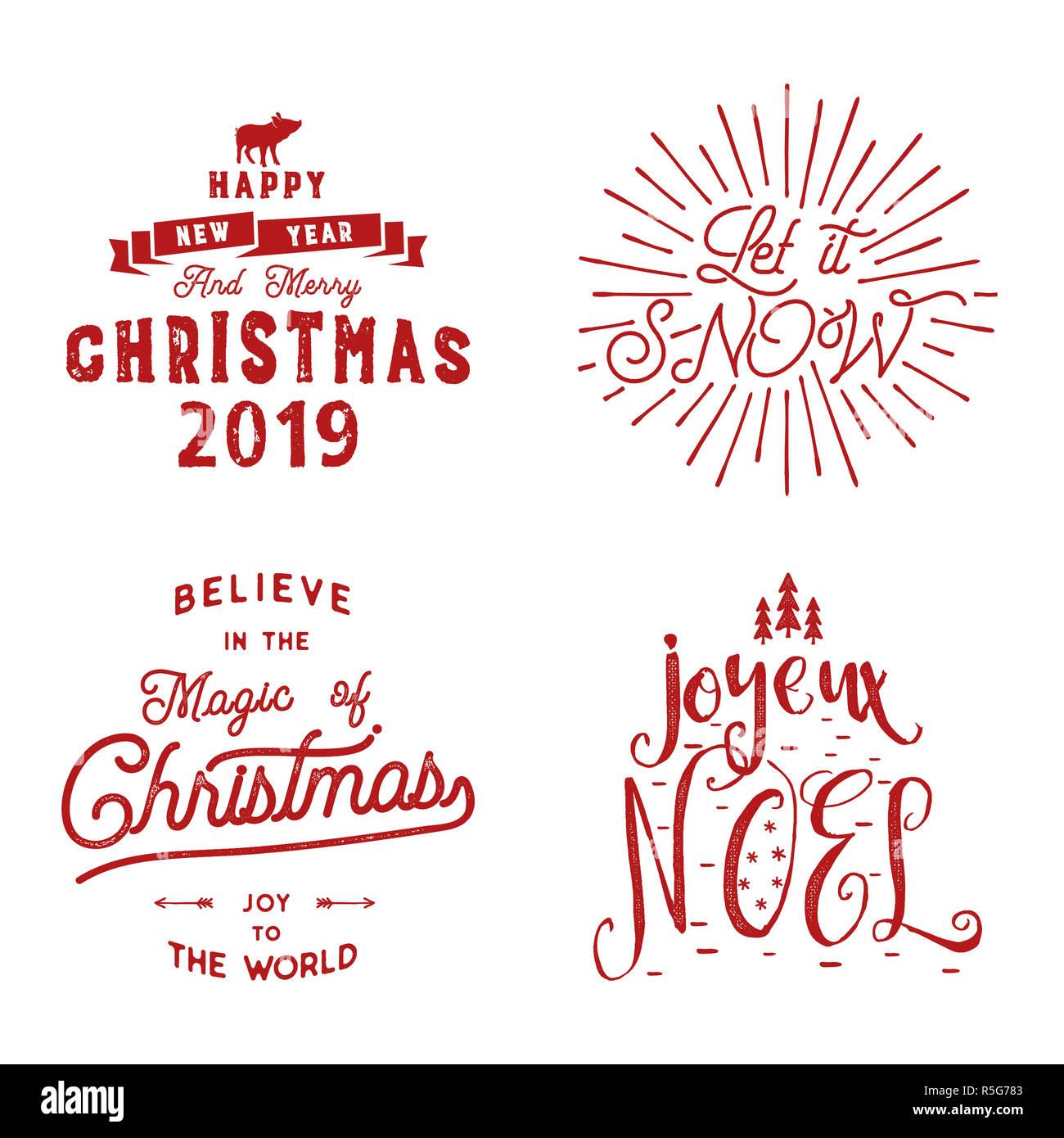 Frohe Weihnachten Frohes Neues Jahr Joyeux Noel 2019 Die