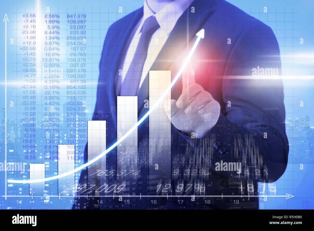 Business mann Gewinne zu erhöhen Stockbild