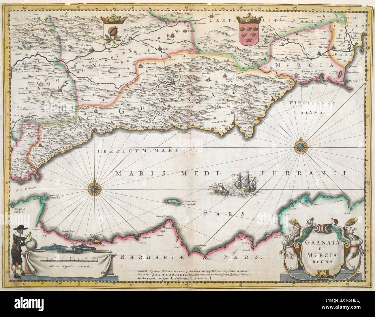 Granada Karte.Jahrhundert Karte Der Regionen Von Granada Und Murcia In Spanien